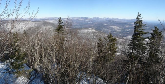 Samuels Point panoramic, Catskills