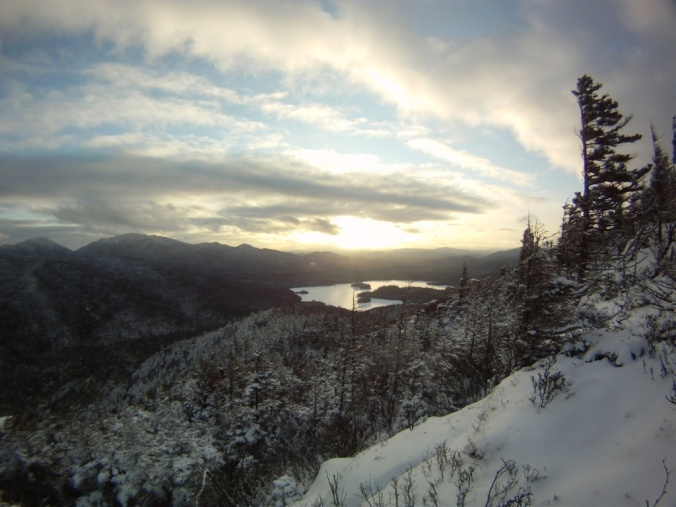 Sunset from Van Dorrien Mountain, Adirondacks