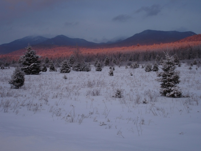 Alpenglow on Sentinel Range, Adirondacks